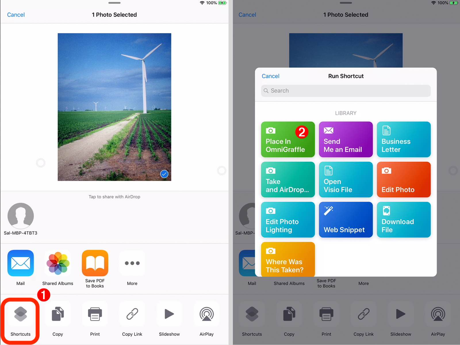 Omni Automation and iOS Shortcuts App